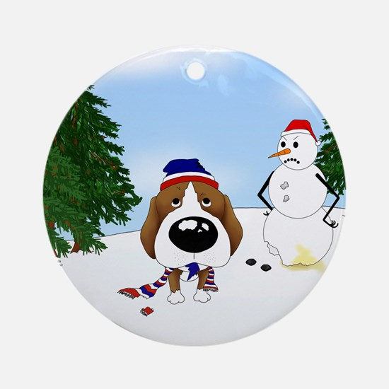 Beagle Holiday Ornament (Round)