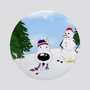 Bull Terrier Holiday Ornament (Round)