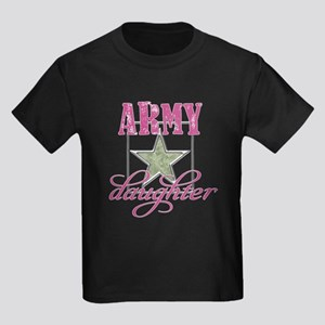 Army Daughter Kids Dark T-Shirt