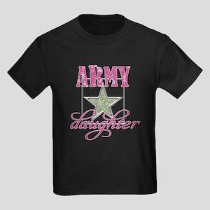 Army Daughter Kids Dark T-Shirt