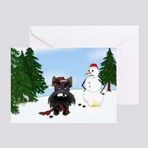 Scottish Terrier Holiday Greeting Card
