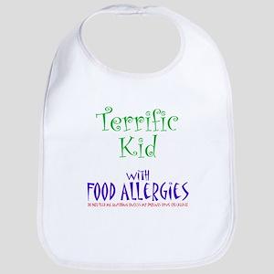 Terrific Kid with Food Allergies Bib