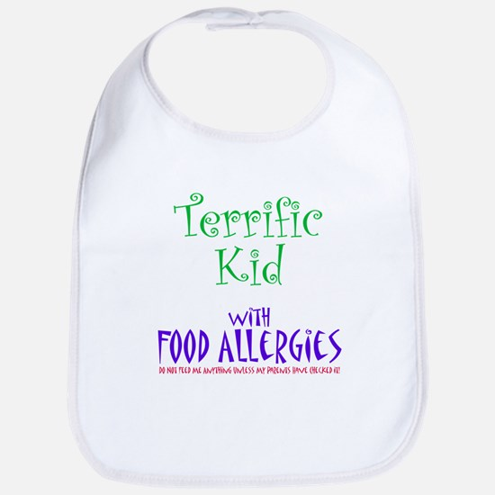 Terrific Kid with Food Allergies Bib