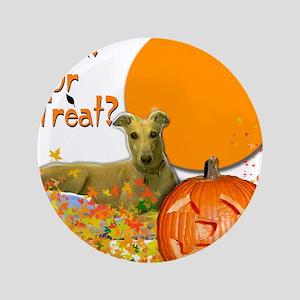 """Halloween Greyhound 3.5"""" Button"""