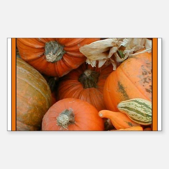 Halloween Pumpkins Rectangle Decal