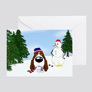 Springer Spaniel Holiday Greeting Card