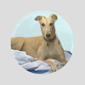 """Clarice the Greyhound 3.5"""" Button"""