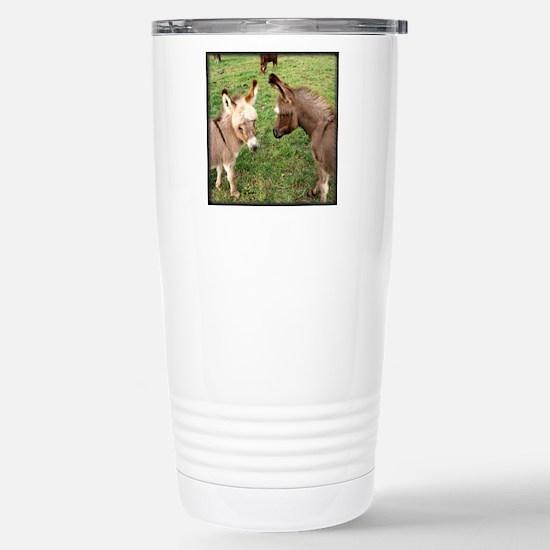 Two Baby Donkeys Stainless Steel Travel Mug