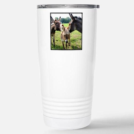 Miniature Donkey Family Stainless Steel Travel Mug