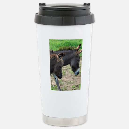 Miniature Donkeys Stainless Steel Travel Mug