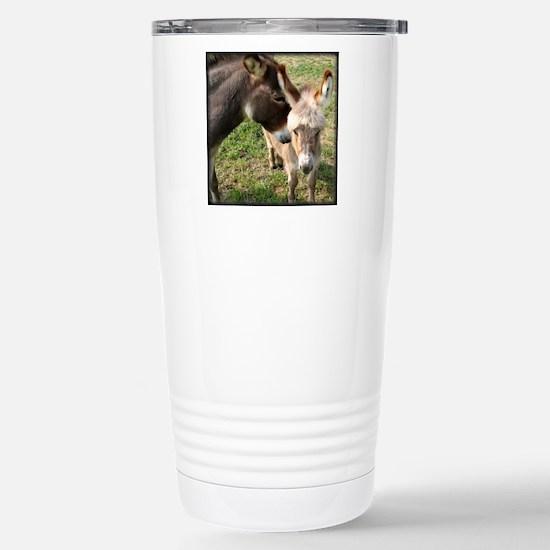Donkey Mother's Love Stainless Steel Travel Mug