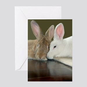 "Bunny ""Lean on Me"" Greeting Card"