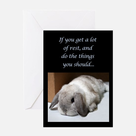 Bunny Get Well Soon Greeting Card