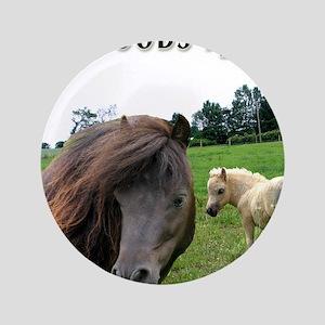 """Miniature Horse Shadow Buck & 3.5"""" Button"""