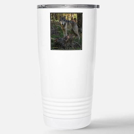 Wolf Posing Stainless Steel Travel Mug
