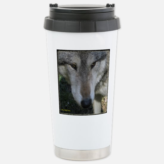 Wolf Portrait Stainless Steel Travel Mug
