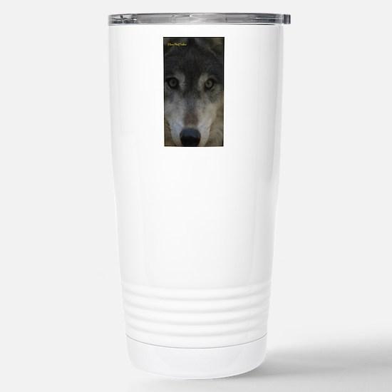 Wolf Eyes: The Mystic Stainless Steel Travel Mug