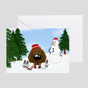 Chocolate Lab Holiday Greeting Card