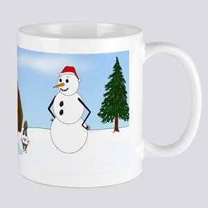 Chocolate Lab Holiday Mug