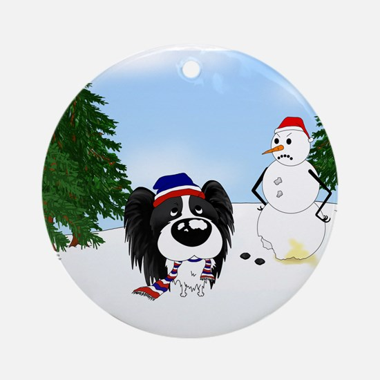 Papillon Holiday Ornament (Round)