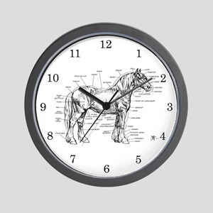 Horse Anatomy Wall Clock