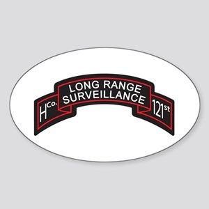 H Co 121st INF LRS Scroll Col Oval Sticker