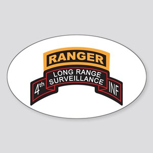 4th INF LRS Scroll with Range Oval Sticker