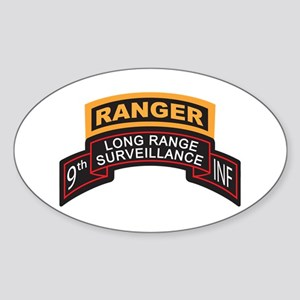 9th INF LRS Scroll with Range Oval Sticker