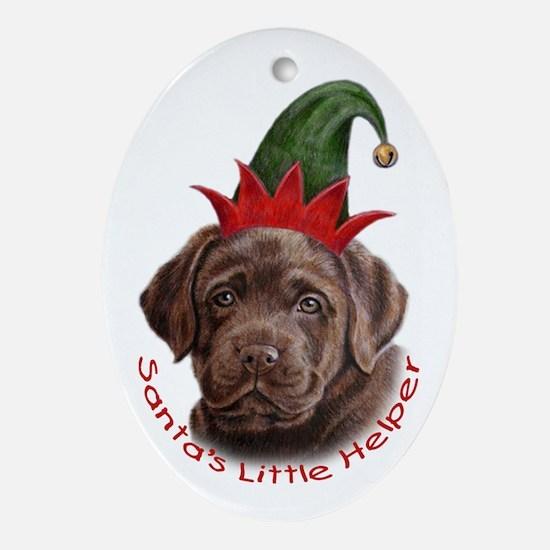 Chocolate Lab Santa Helper