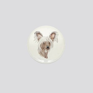 Chinese crested dog Mini Button