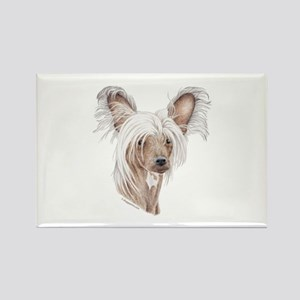 Chinese crested dog Rectangle Magnet
