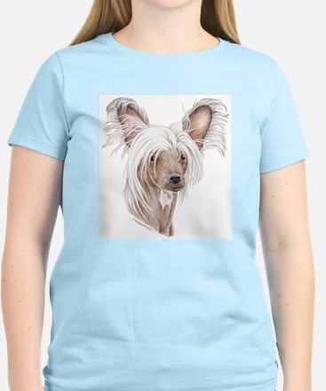 Chinese crested dog Women's Pink T-Shirt