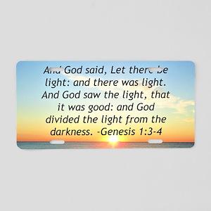 GENESIS 1:3 Aluminum License Plate