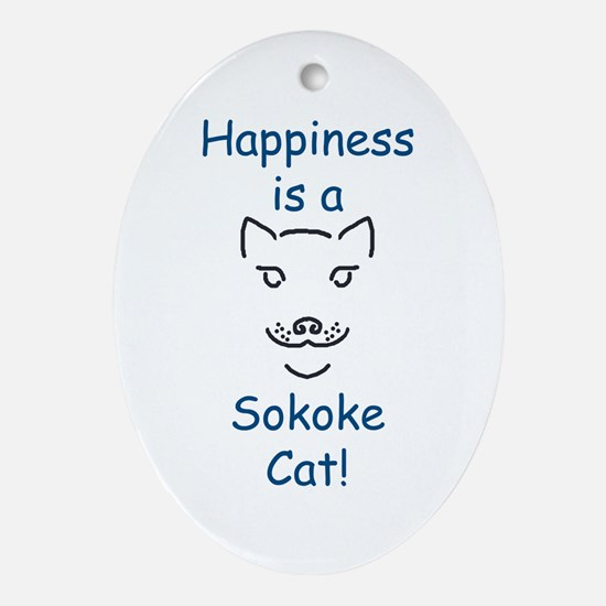 Sokoke Cat Oval Ornament