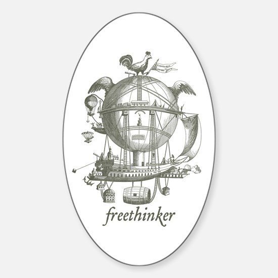 Freethinker Oval Decal