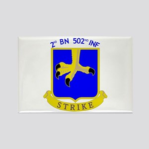 2nd BN 502nd INF Rectangle Magnet