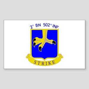 2nd BN 502nd INF Rectangle Sticker