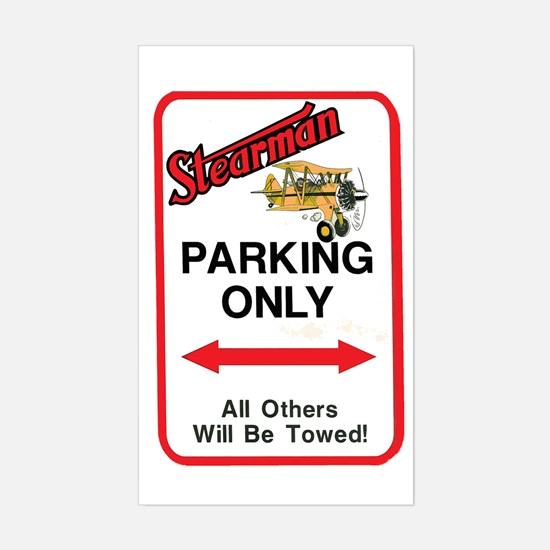 STEARMAN PARKING ONLY Rectangle Decal