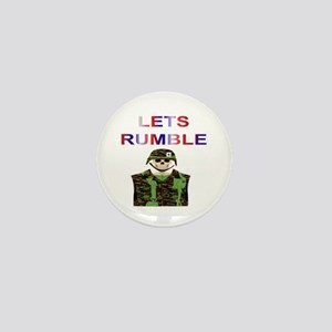 LETS RUMBLE Mini Button