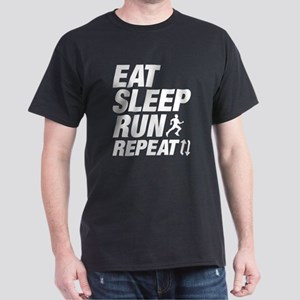 Eat Sleep Run Repeat Dark T-Shirt