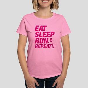 Eat Sleep Run Repeat Women's Dark T-Shirt