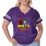 Doug (for light) Women's Plus Size Football T-Shir