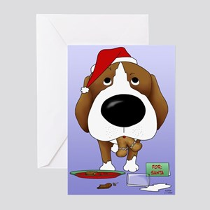 Beagle Santa's Cookies Greeting Cards (Pk of 20)