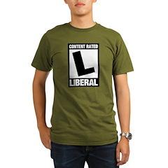Content Rated Liberal Organic Men's T-Shirt (dark)