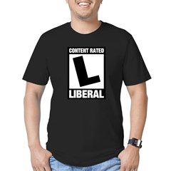 Content Rated Liberal Men's Fitted T-Shirt (dark)