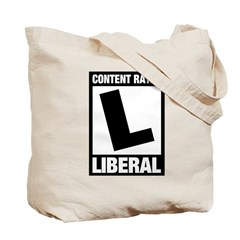 Content Rated Liberal Tote Bag