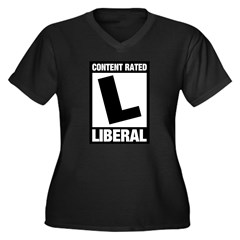 Content Rated Liberal Women's Plus Size V-Neck Dar