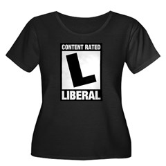 Content Rated Liberal Women's Plus Size Scoop Neck
