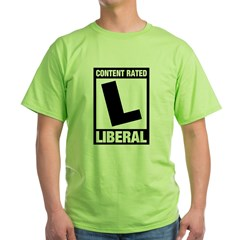 Content Rated Liberal Green T-Shirt
