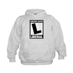 Content Rated Liberal Kids Hoodie